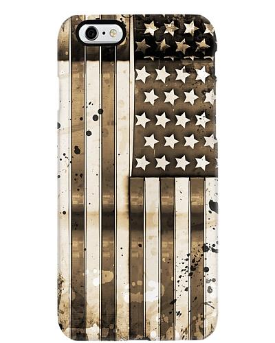 Metal Look American US USA Flag Phone Case