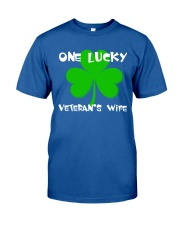 One Lucky Veteran's Wife Classic T-Shirt front