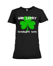 One Lucky Veteran's Wife Premium Fit Ladies Tee tile