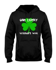 One Lucky Veteran's Wife Hooded Sweatshirt tile