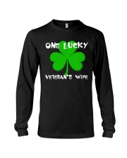 One Lucky Veteran's Wife Long Sleeve Tee tile