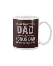 Dad and Bonus Dad Father's Day Gift for Him Mug tile