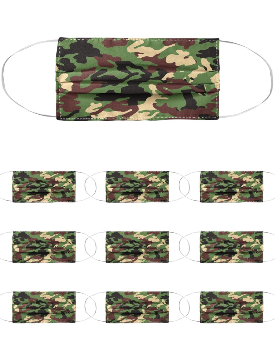 Camo Face Mask Cloth Face Mask - 10 Pack