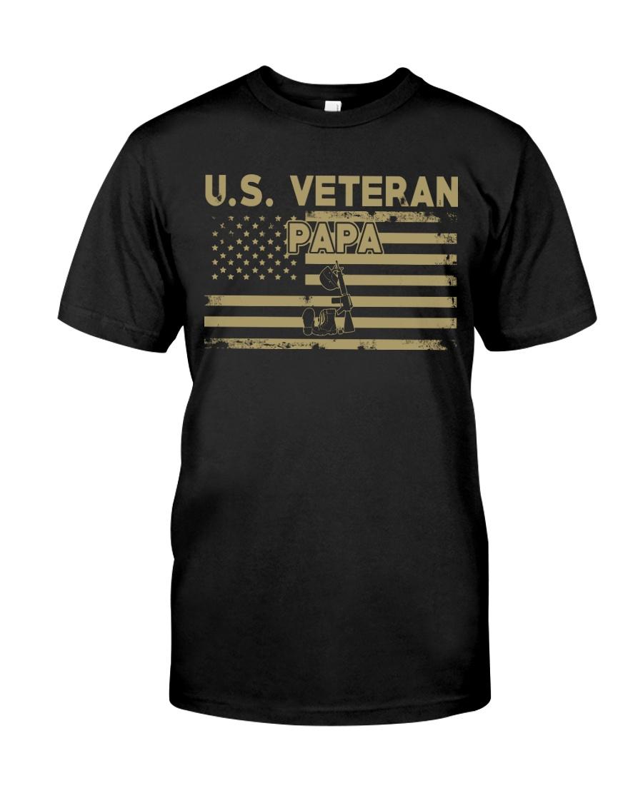 US Veteran Papa Classic T-Shirt