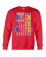 Black Lives Matter American Flag LGBT Pride Month Crewneck Sweatshirt front