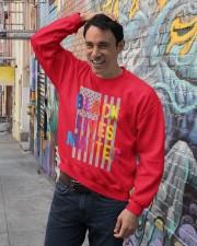 Black Lives Matter American Flag LGBT Pride Month Crewneck Sweatshirt lifestyle-unisex-sweatshirt-front-4