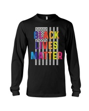 Black Lives Matter American Flag LGBT Pride Month Long Sleeve Tee thumbnail
