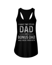 Dad and Bonus Dad Father's Day Gift for Him Ladies Flowy Tank thumbnail