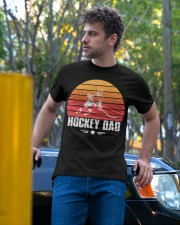 Vintage Hockey Dad Father's Day Gift Classic T-Shirt apparel-classic-tshirt-lifestyle-front-44