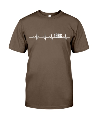 1968 Heartbeat Birthday Gift for Him Shirt for Her