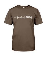 2002 Heartbeat Birthday Gift Classic T-Shirt front