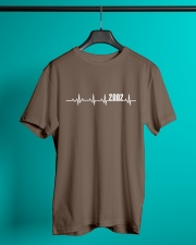 2002 Heartbeat Birthday Gift Classic T-Shirt lifestyle-mens-crewneck-front-3