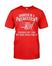 Daughter Of A Veteran Classic T-Shirt front
