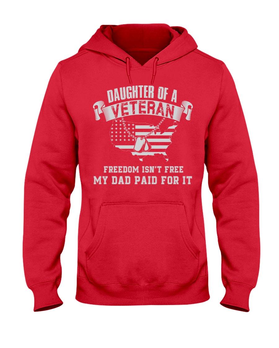 Daughter Of A Veteran Hooded Sweatshirt
