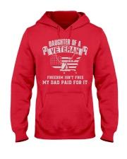 Daughter Of A Veteran Hooded Sweatshirt front