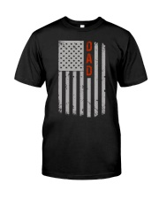 Dad American Flag Pride 4th of July Classic T-Shirt front