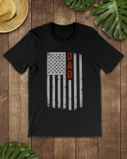 Dad American Flag Pride 4th of July Classic T-Shirt lifestyle-mens-crewneck-front-18