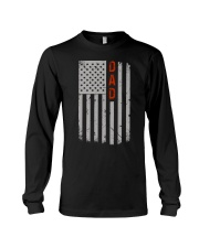 Dad American Flag Pride 4th of July Long Sleeve Tee thumbnail