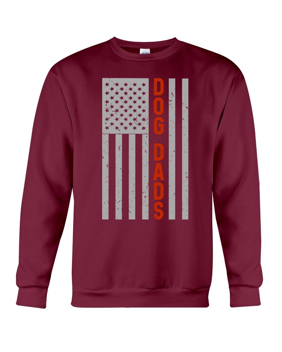 Dog Dads American Flag Pride 4th of July  Crewneck Sweatshirt
