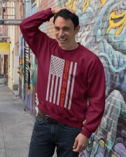 Dog Dads American Flag Pride 4th of July  Crewneck Sweatshirt lifestyle-unisex-sweatshirt-front-4