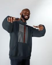 Dog Dads American Flag Pride 4th of July  Hooded Sweatshirt apparel-hooded-sweatshirt-lifestyle-front-12