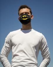 Batman bat shield logo face mask Cloth face mask aos-face-mask-lifestyle-11