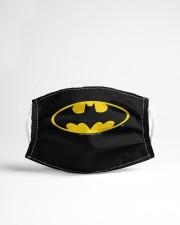 Batman bat shield logo face mask Cloth face mask aos-face-mask-lifestyle-22