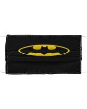 Batman bat shield logo face mask Cloth face mask front