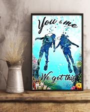 Scuba you and me we got this poster 11x17 Poster lifestyle-poster-3