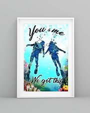 Scuba you and me we got this poster 11x17 Poster lifestyle-poster-5