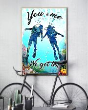 Scuba you and me we got this poster 11x17 Poster lifestyle-poster-7