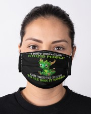 Dragon I don't understand stupid people face mask Cloth face mask aos-face-mask-lifestyle-01