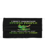 Dragon I don't understand stupid people face mask Cloth face mask front
