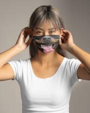 Rottweiler dog face mask - Style 2  Cloth face mask aos-face-mask-lifestyle-16