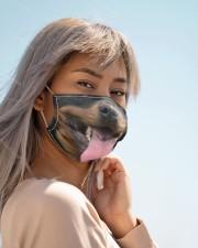 Rottweiler dog face mask - Style 2  Cloth face mask aos-face-mask-lifestyle-19