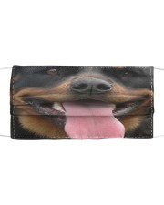 Rottweiler dog face mask - Style 2  Cloth face mask front