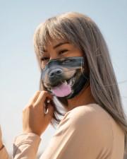 Rottweiler dog face mask Cloth face mask aos-face-mask-lifestyle-20
