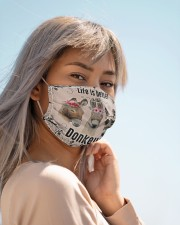 Life is better with donkeys face mask Cloth face mask aos-face-mask-lifestyle-19