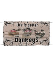 Life is better with donkeys face mask Cloth face mask front