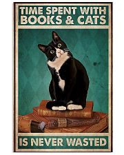 Time spent with books and cats never wasted poster 11x17 Poster front