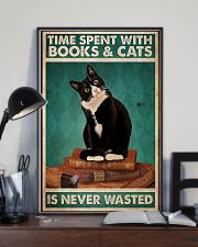 Time spent with books and cats never wasted poster 11x17 Poster lifestyle-poster-2