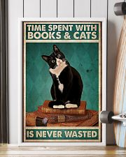 Time spent with books and cats never wasted poster 11x17 Poster lifestyle-poster-4