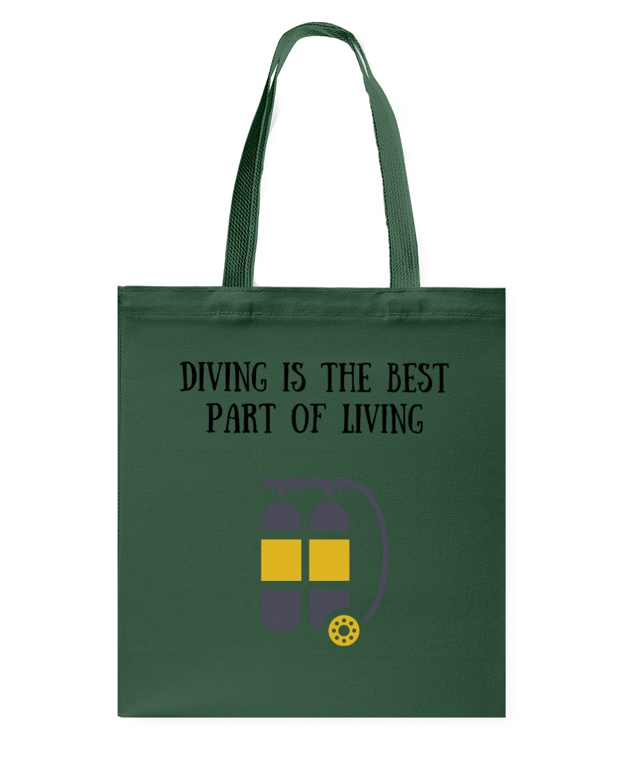 Diving is the best part of living Tote Bag
