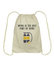 Diving is the best part of living Drawstring Bag thumbnail