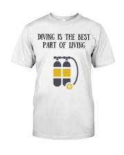 Diving is the best part of living Classic T-Shirt thumbnail