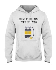 Diving is the best part of living Hooded Sweatshirt thumbnail