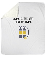 """Diving is the best part of living Sherpa Fleece Blanket - 50"""" x 60"""" thumbnail"""