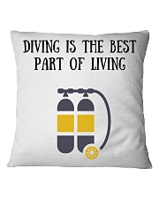 Diving is the best part of living Square Pillowcase thumbnail
