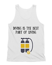 Diving is the best part of living All-over Unisex Tank thumbnail