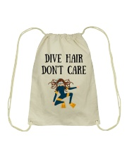 Dive hair don't care Drawstring Bag thumbnail